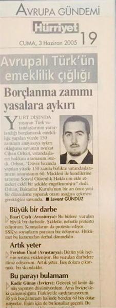 Hürriyet Gazetesi Avukat Cihan Orhan Röportaj
